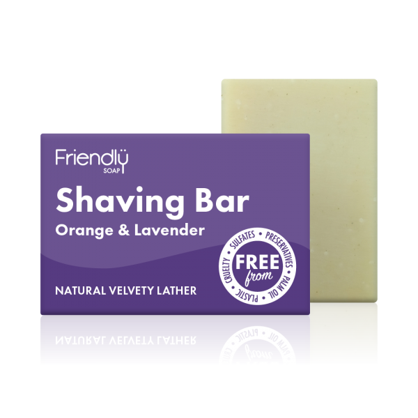 Orange & Lavender Shaving Soap Bar - Friendly Soap