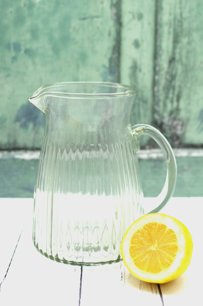 Load image into Gallery viewer, Handmade glass jug. glass vase. sustainable. vera-bee.
