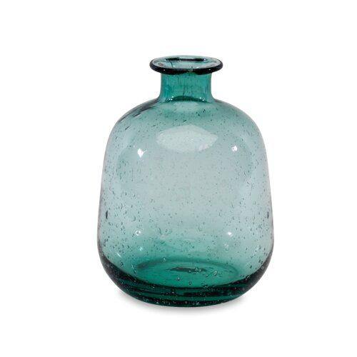 Glass Vase Handmade & Recycled in Teal - Nkuku - Vera-Bee Limited