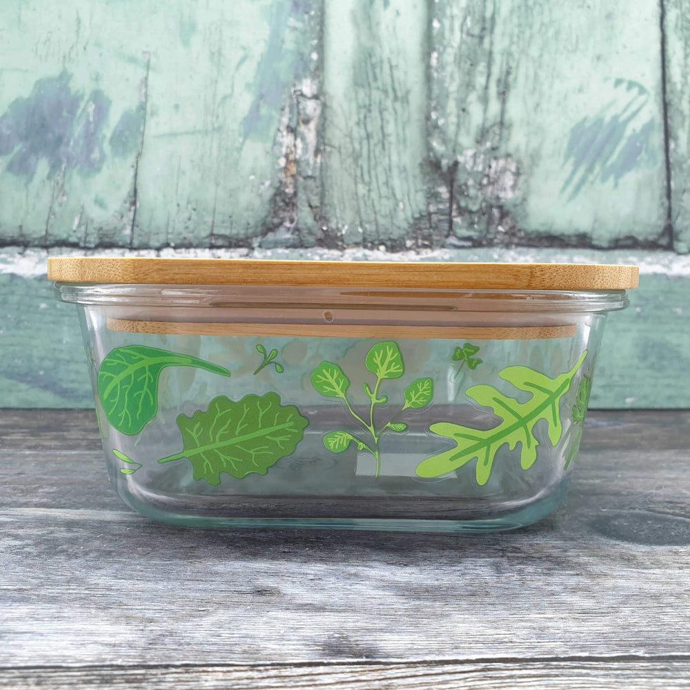 Powered By Plants Glass Storage Box Small - Sass & Belle