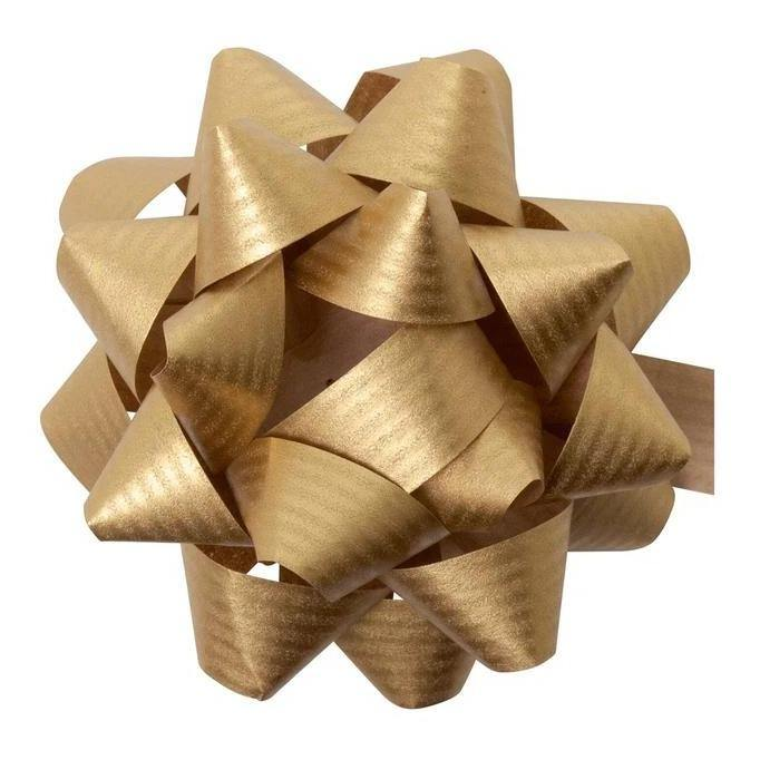 Paper Gift Bow in Gold - Go Green