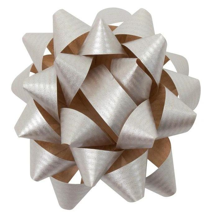 Paper Gift Bow in Silver - Go Green