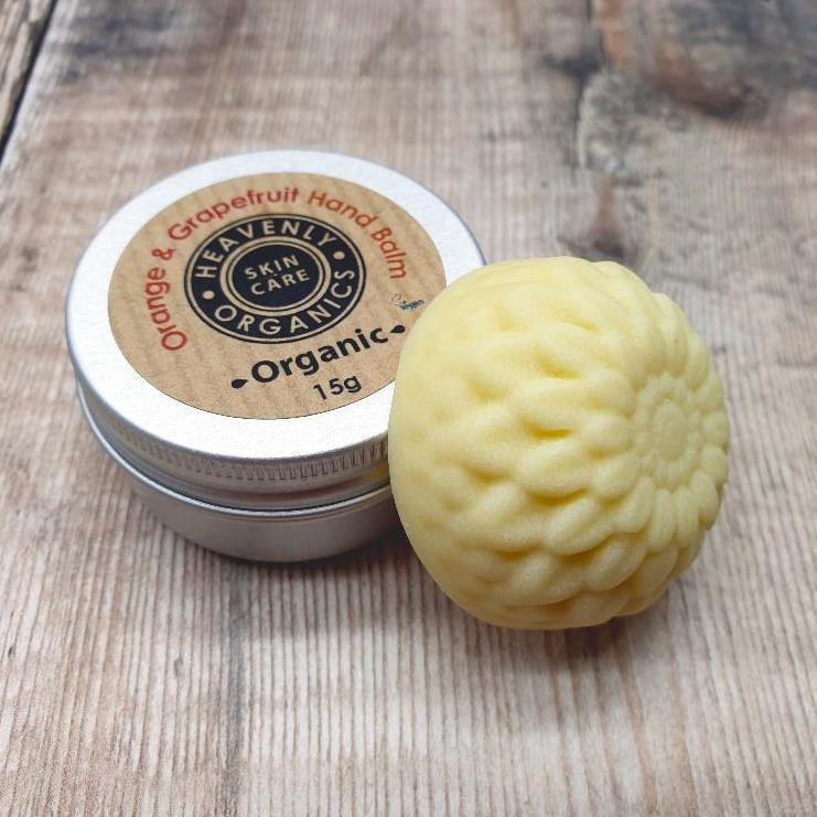 Organic Orange & Grapefruit Solid Hand Balm – Heavenly Organics - Vera-Bee Limited