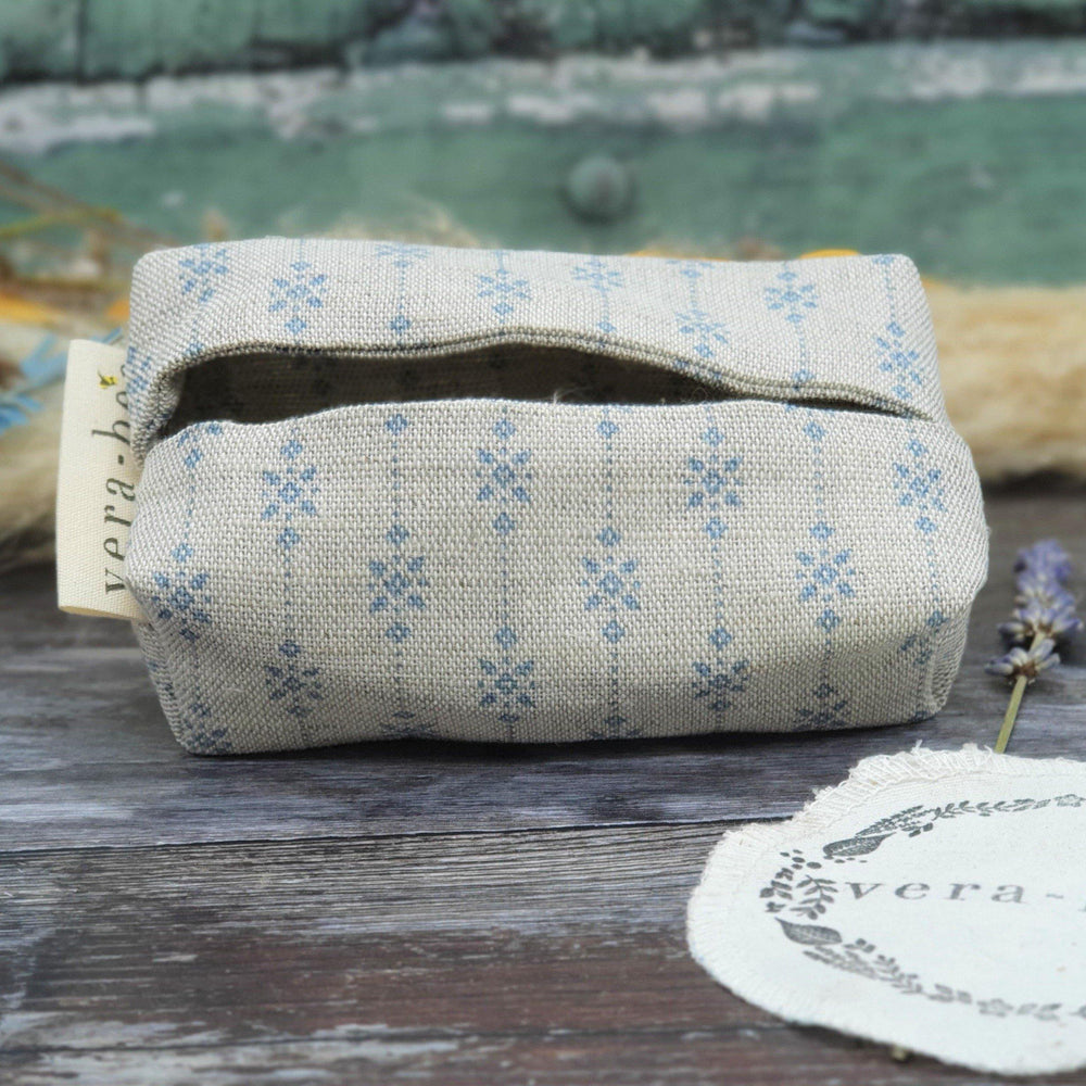 Linen Tissue & Handkerchief Pouch by Vera-Bee - Natural & Plastic Free
