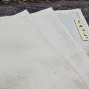 Organic Cotton Handkerchiefs with Linen Pouch by Vera-Bee