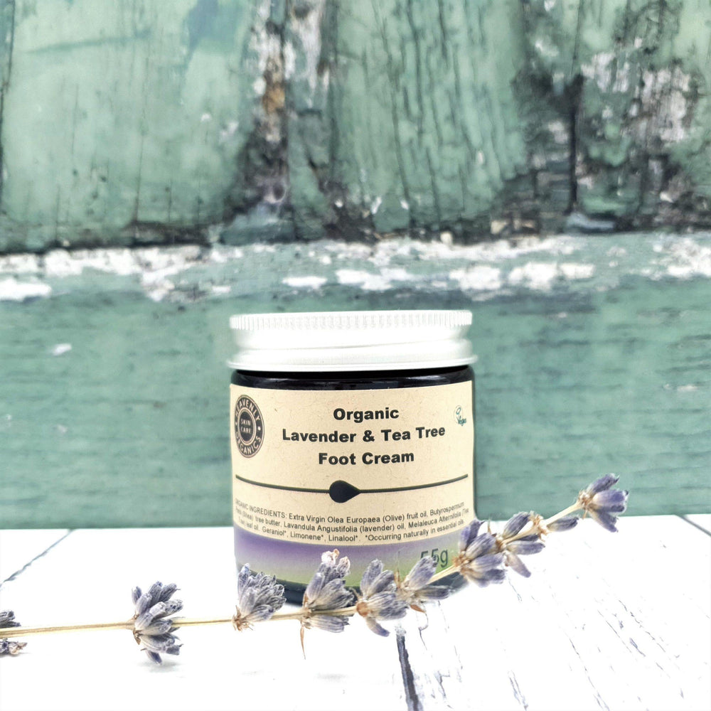 Organic Lavender & Tea Tree Foot Cream - Heavenly Organics