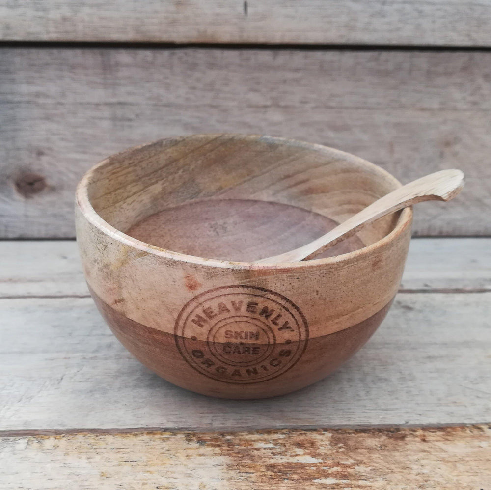 Wooden Bowl & Spoon - Heavenly Organics