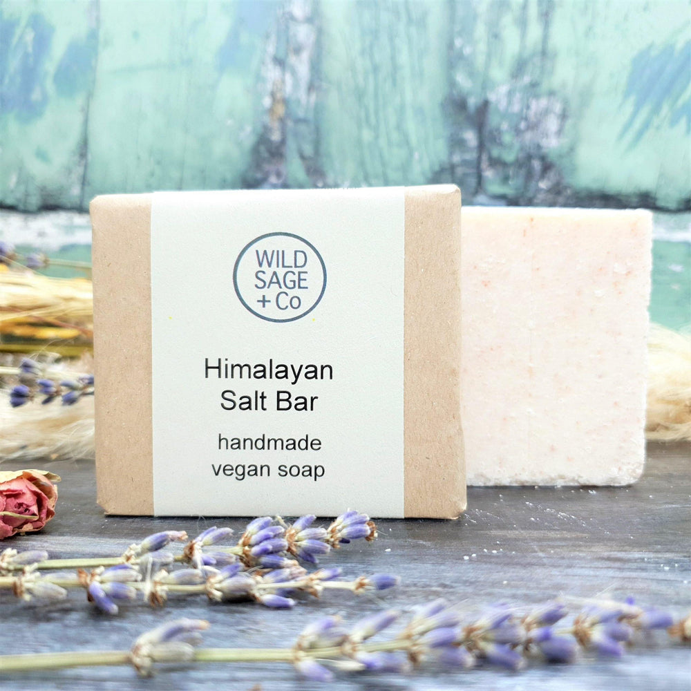 Load image into Gallery viewer, Peppermint, Eucalyptus & Himalayan Pink Salt Natural Soap Bar - Wild Sage & Co