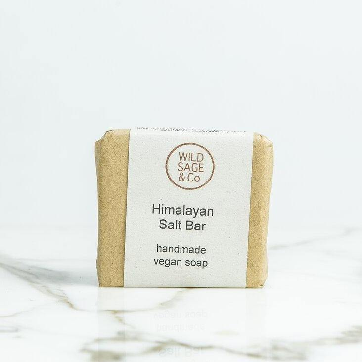Peppermint, Eucalyptus & Himalayan Pink Salt Natural Soap Bar - Wild Sage & Co