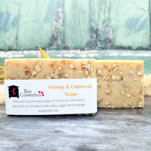Soothing Honey & Oatmeal Soap Bar - Bee Cosmetics
