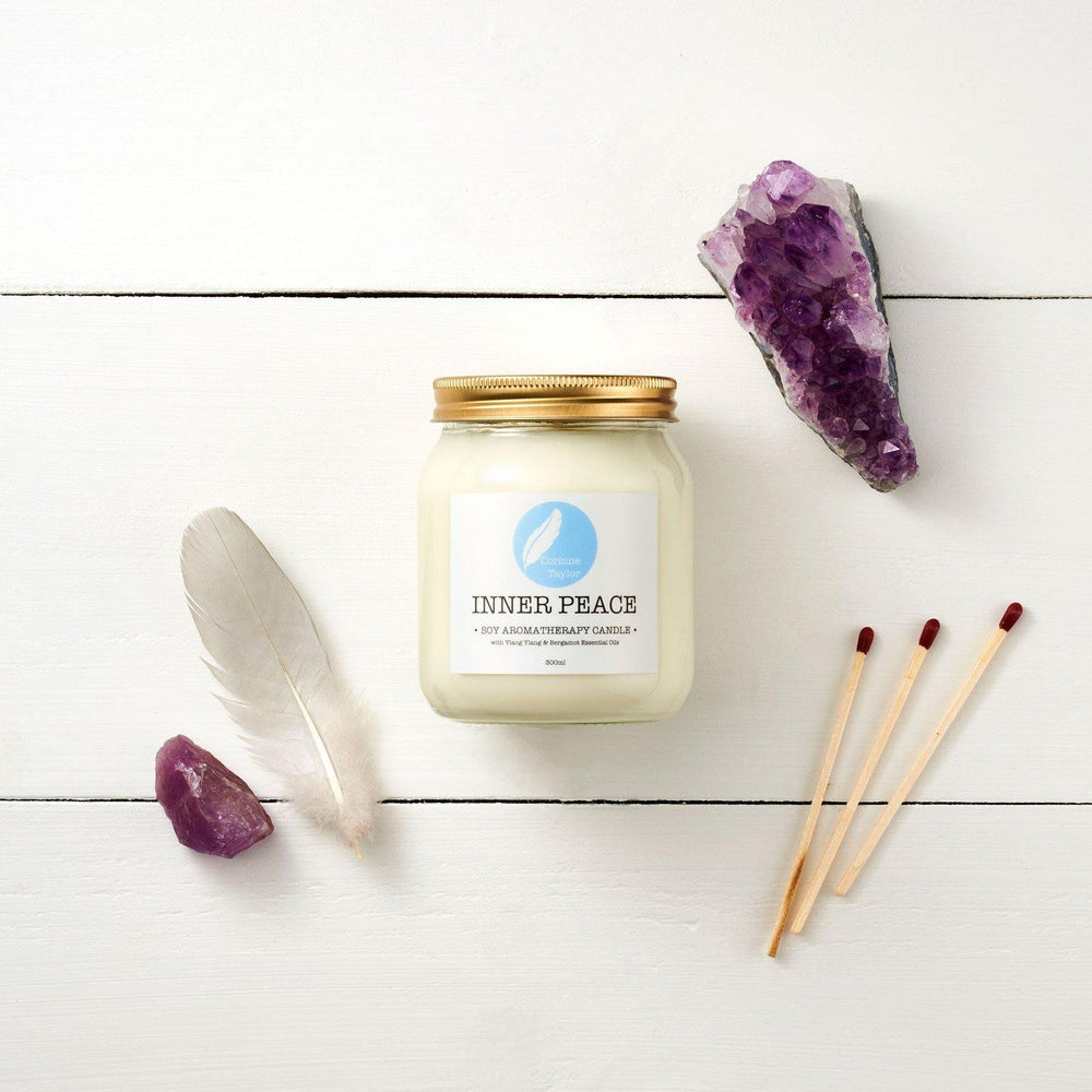 Load image into Gallery viewer, Inner Peace Soy Aromatherapy Candle - Corrine Taylor