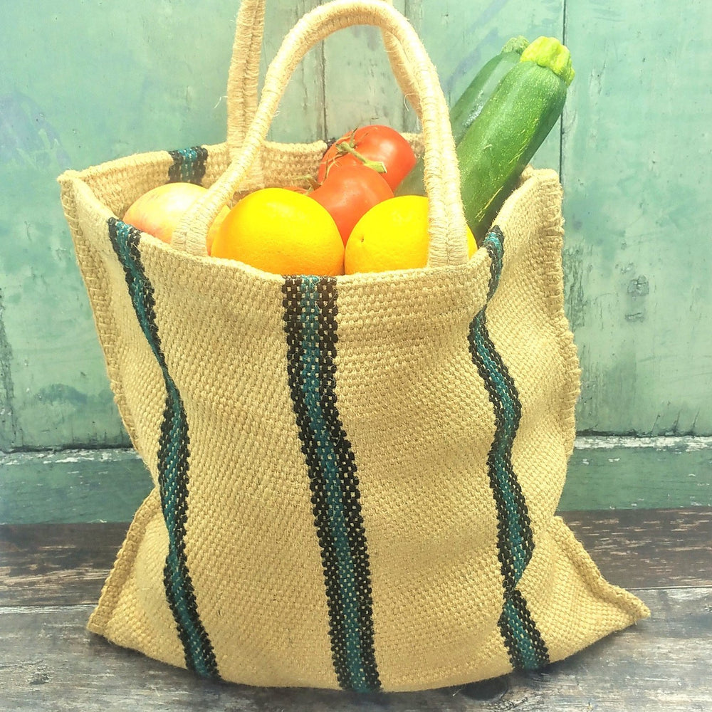 Reusable Jute Shopping Bag. Vera-Bee. Ethical. Sustainable. Handmade.