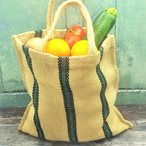 Load image into Gallery viewer, Reusable Jute Shopping Bag. Vera-Bee. Ethical. Sustainable. Handmade.
