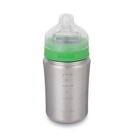 Load image into Gallery viewer, BPA Free Stainless Steel Baby Bottle with Medium Flow Nipple 266ml - Klean Kanteen