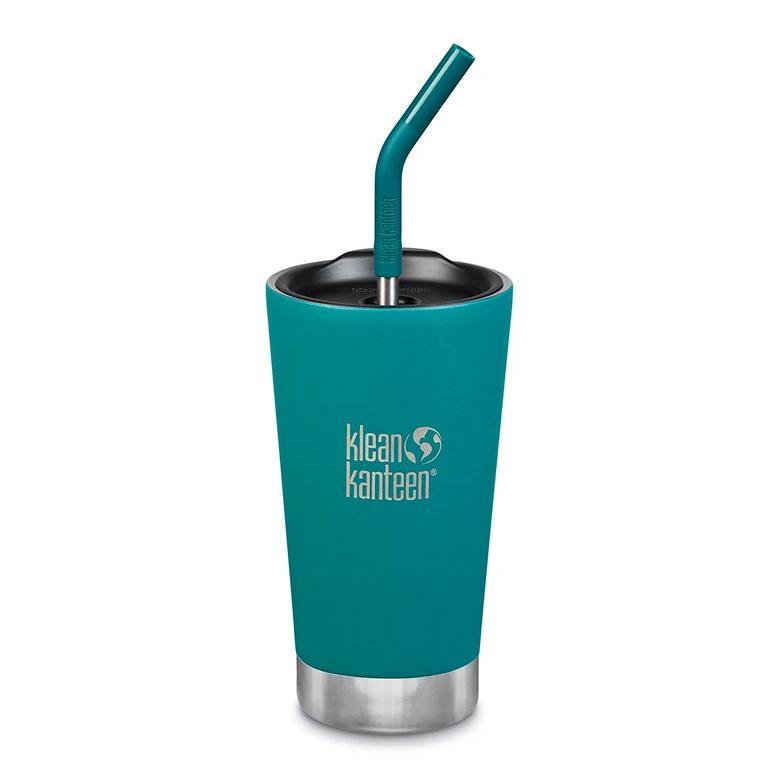 Insulated Tumbler with Straw & Lid Emerald Bay 473ml - Klean Kanteen