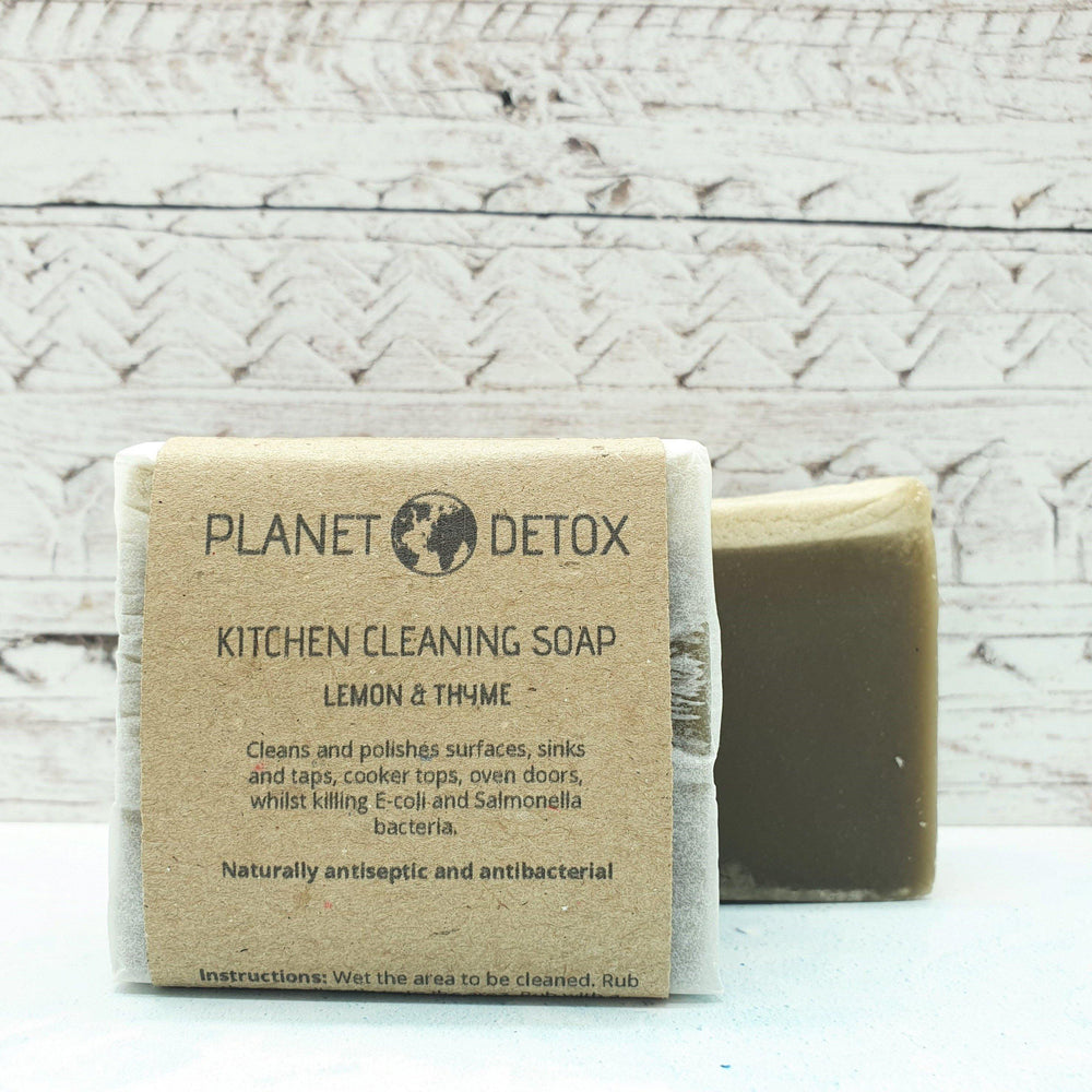 Kitchen Cleaning Bar Lemon & Thyme 100% Natural – Planet Detox