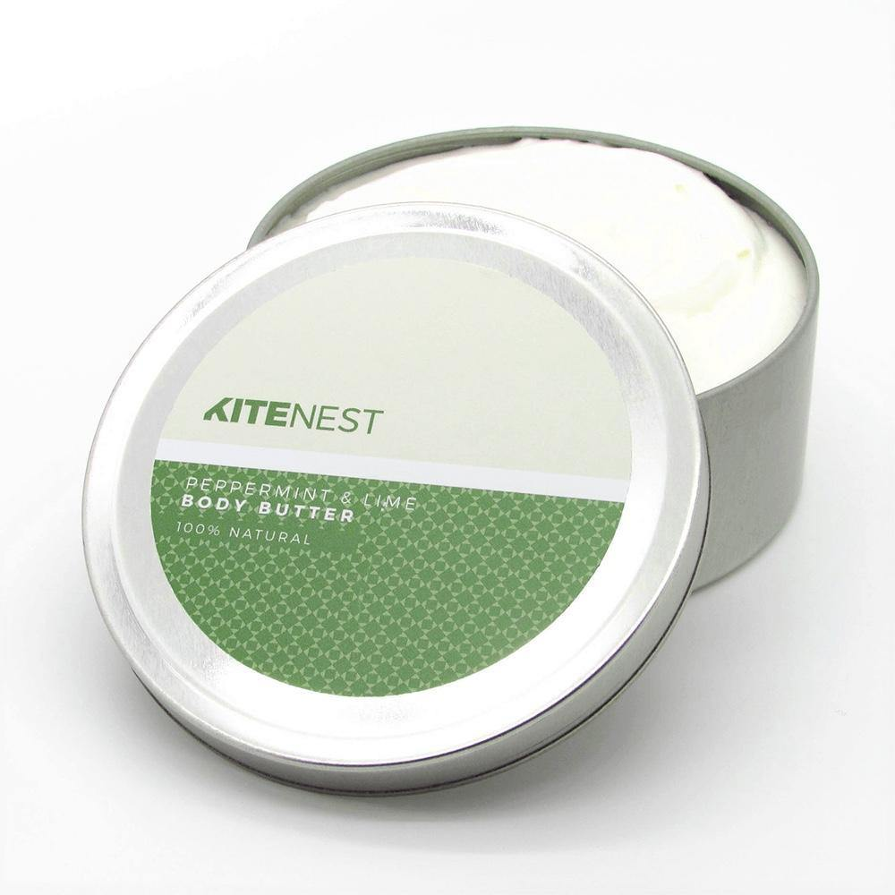 Natural Peppermint & Lime Whipped Body Butter - KiteNest