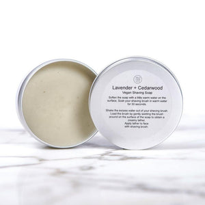 Lavender & Cedarwood Shaving Soap - Wild Sage & Co