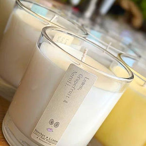 Pure Essential Oil Soy Wax Candle - Sherbet Linen