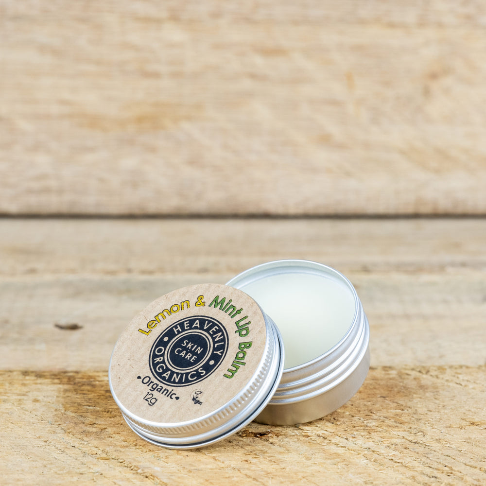 Organic Lemon & Mint Lip Balm – Heavenly Organics
