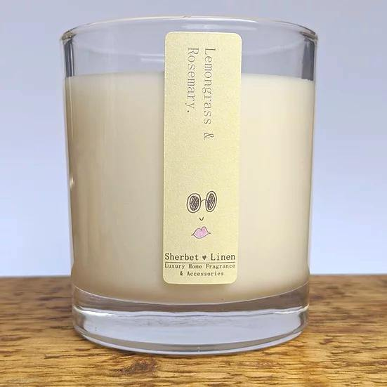 Pure Essential Oil Soy Wax Candle - Sherbet Linen - Vera-Bee Limited