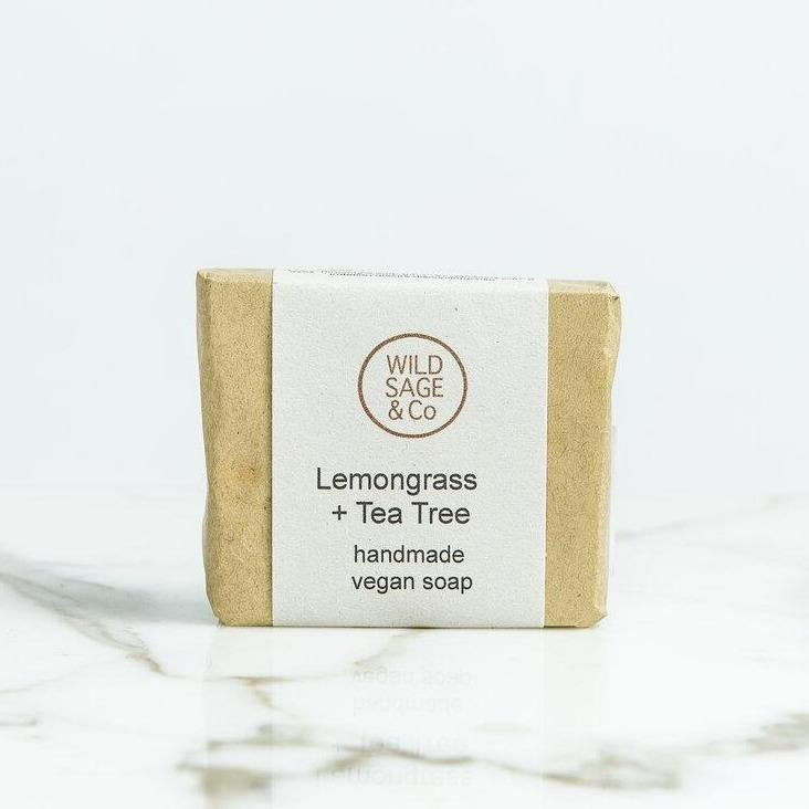 Cleansing Lemongrass & Tea Tree Natural Soap Bar - Wild Sage & Co