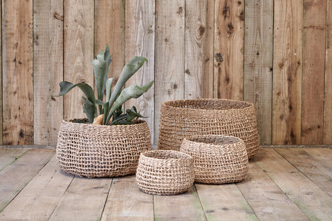Load image into Gallery viewer, Mendo Sea Grass Baskets. Storage Baskets. Plastic-Free Storage. Vera-Bee.