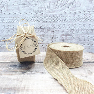 Load image into Gallery viewer, Natural Hessian Ribbon 50mm x 9 metres