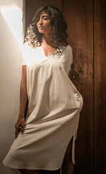 Kaftan Dress Aquarius Oatmeal - Organic Cotton - No Nasties