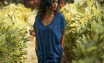 Kaftan Dress Aquarius Blue- Organic Cotton - No Nasties