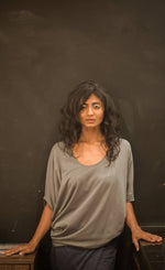 Slanted Top Grey - Organic Cotton - No Nasties