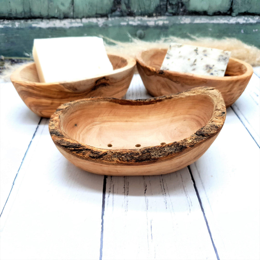 Olive Wood Soap Dish - Vera-Bee Limited