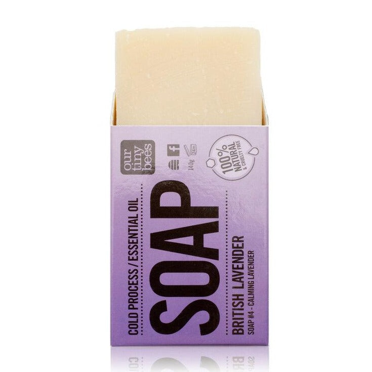 Soap #4 British Lavender - Antiviral, Antibacterial & Antiseptic - Our Tiny Bees