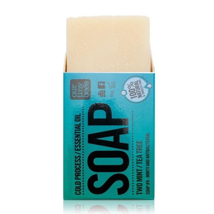 Soap #9 Two Mint & Tea Tree - Antiviral, Antibacterial & Antiseptic - Our Tiny Bees