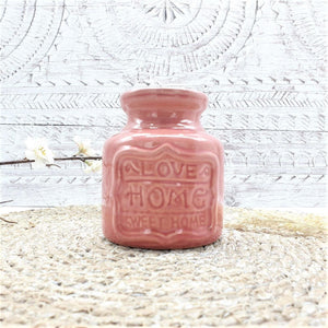 Essential Oil & Wax Melt Burner Dusky Rose - Home Sweet Home