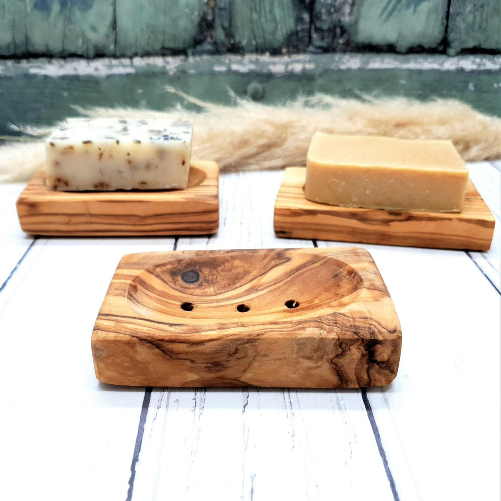 Olive Wood Soap Dish Rectangle