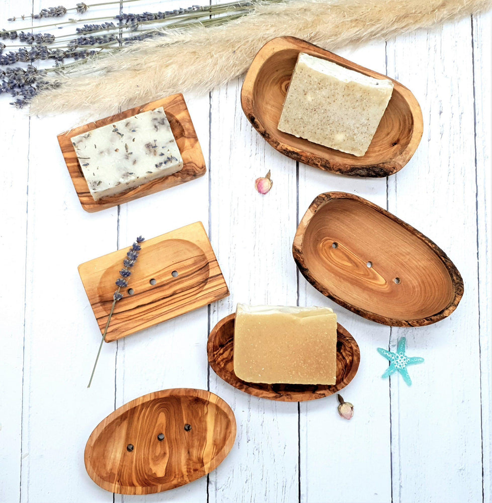 Olive Wood Soap Dish Oval