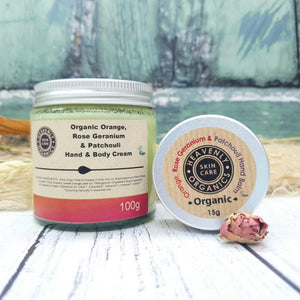 Load image into Gallery viewer, For the Love of Hand Cream Gift Set - Organic Orange, Rose Geranium & Patchouli