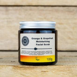 Organic Orange & Grapefruit Oil Moisturising Face Scrub – Heavenly Organics