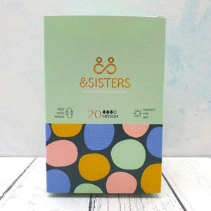 Eco-friendly Pads with Wings Medium/Day (20) – &Sisters