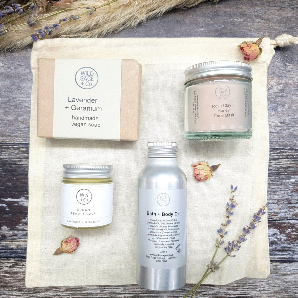 Load image into Gallery viewer, Pamper Face & Body Gift Set - Wild Sage & Co