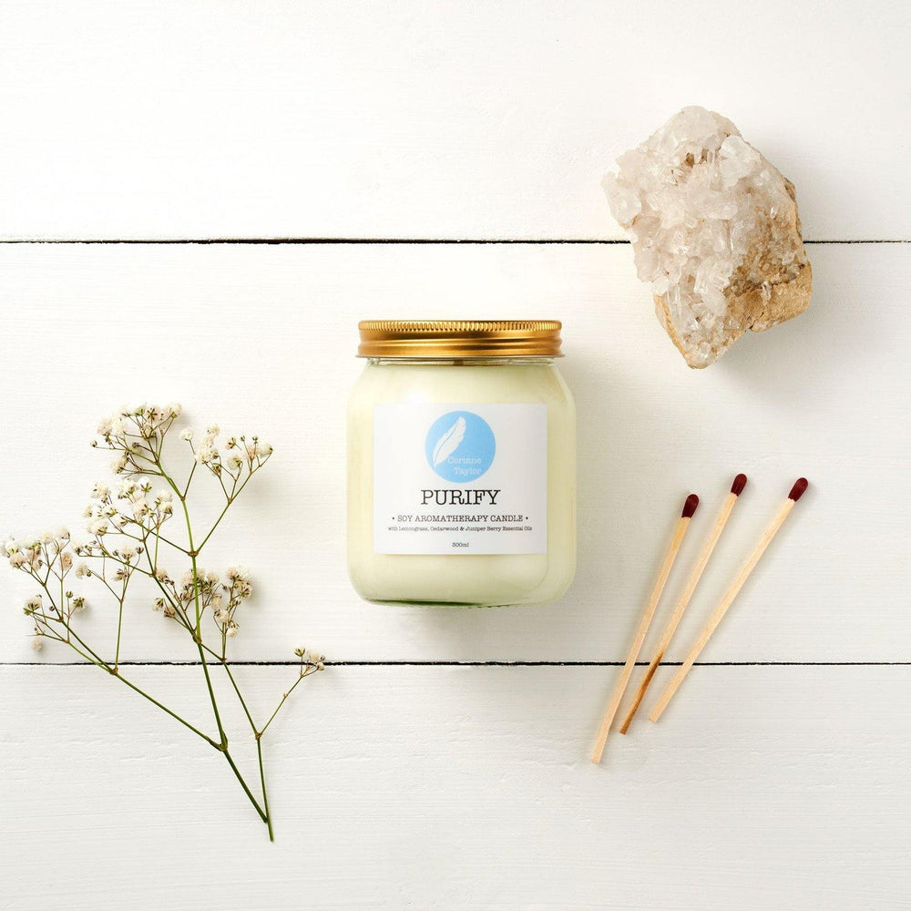 Purify Soy Aromatherapy Candle - Corrine Taylor