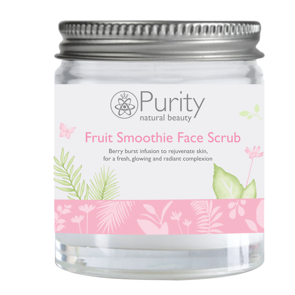 Fruit Smoothie AHA Face Scrub - Purity Natural Beauty