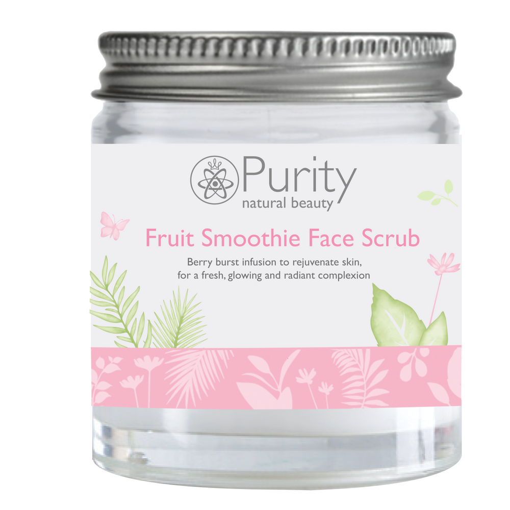 Fruit Smoothie AHA Face Scrub Mini Jar - Purity Natural Beauty