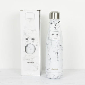Load image into Gallery viewer, Qwetch Insulated Stainless Steel Water Bottle 500ml - Marble