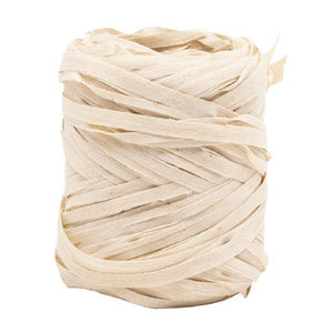 Natural Raffia Ribbon in Cream - Go Green