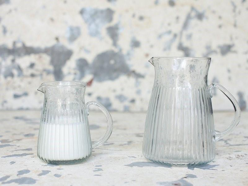 Glass Jug Handmade & Recycled Small - Nkuku - Vera-Bee Limited