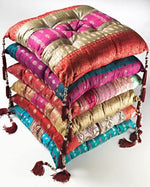 Recycled Sari Filled Cushion