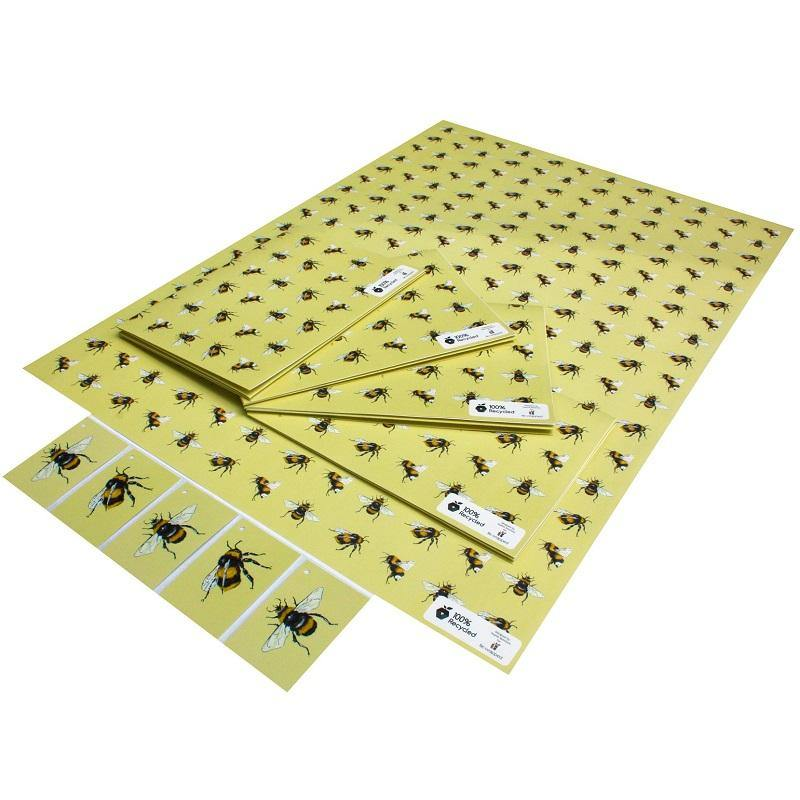 Eco-friendly Recycled Wrapping Paper - Bees by Re-wrapped
