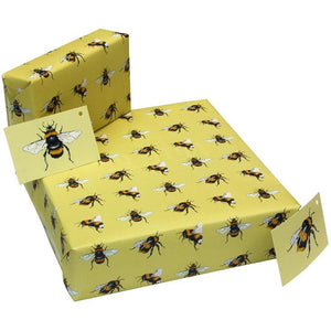 Eco-friendly Recycled Wrapping Paper - Bees by Re-wrapped - Vera-Bee Limited